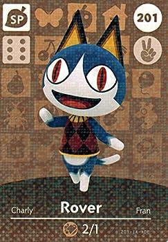 Nintendo Animal Crossing Happy Home Designer Amiibo Card Rover 201/300 USA Version