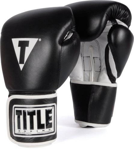 TITLE Boxing Pro Style Leather Training Gloves,...