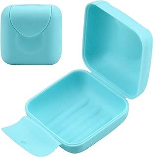 Yardwe Porta saponetta in plastica con Coperchio Trasparente di Scarico portasapone per Bagno Cucina Beige Bianco