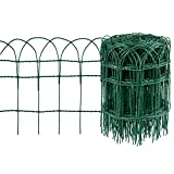 Amagabeli 0.4M x 25M Green Garden Border Fence 2.95mm Wire Diameter RAL6005 PVC Coated Metal Wire Fencing...