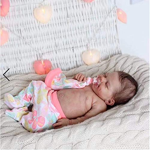 Chang Reborn doll Newborn Handmade Girl Doll,22 Inch 55cm Soft Full Body Realistic Silicone Vinyl Real Life Baby Dolls for Collection Kids Age 3+,girl(Siliconebody)
