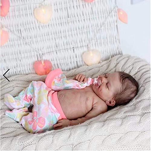 CHANG Reborn Doll Nouveau-né Fille à la Main poupée,22 Pouces 55 cm Doux Complet du Corps réaliste Silicone Vinyle Vraie Vie bébé poupées pour Collection Enfants 3 Ans et Plus,Girl(Siliconebody)