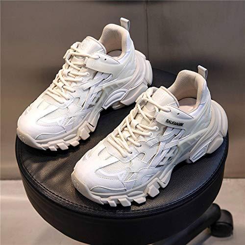N-B Zapatillas deportivas de piel para mujer, con estampado de Bottom