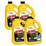 SC Johnson Professional , Drano Max Gel Drain Clog Remover and Cleaner, Unclogs and Removes Hair, Soap Scum, Bloackages, 128 FL Oz, (Pack of 4), 512 Fl Oz