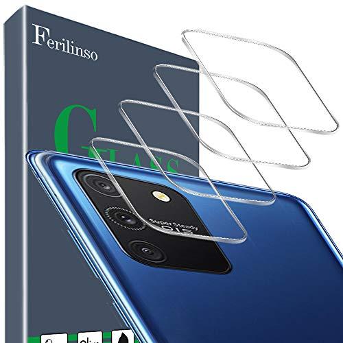 Ferilinso Kameraobjektivschutz für Samsung Galaxy S10 Lite Kameraobjektivschutz, [4 Stück] Panzerglas blasenfreier Hartglas-Schutzfilm für Samsung Galaxy S10 Lite Kamera Schutzfolie (Transparent)