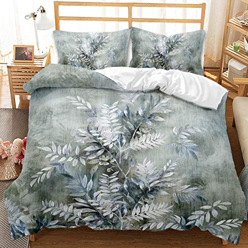 QXbecky Butterfly Flower Plant Bedding Soft Microfiber Quilt Cover Pillowcase 2, 3 Piece Set Twin Bed