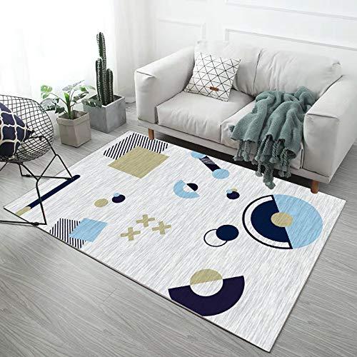 HJFGIRL Innen Teppich Moderner Teppich Mit Geometrischen Mustern Anti-Rutsch-Yoga-Teppiche Große Rechteckige Fußmatte Für Wohnzimmer Schlafzimmer Küche Nachttischmatte,200x300cm(79x118inch)