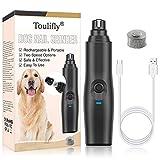 Dog Nail Grinder, Pet Nail Grinder, Electric Pet Nail Grinder Gentle, Adjustable Power 2 Speed Quiet USB...