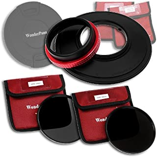 WonderPana 145 Neutral Density Kit   145mm Filter Holder, Lens Cap, ND16 and ND32 Filters for the Panasonic Lumix G Vario 7 14mm f/4.0 Aspherical Lens (Micro Four Thirds Format)