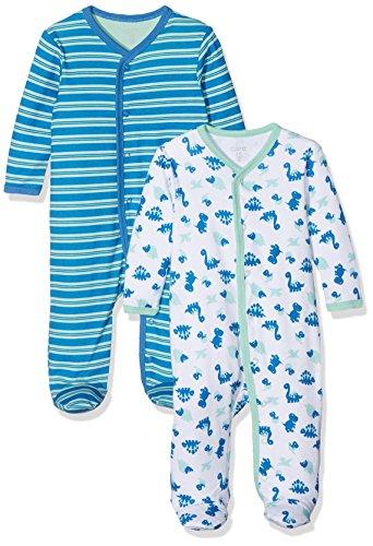 Care Baby-Jungen Schlafstrampler, 2er Pack, Grün (Jade Green 951), 3 Jahre (Herstellergröße: 98 )