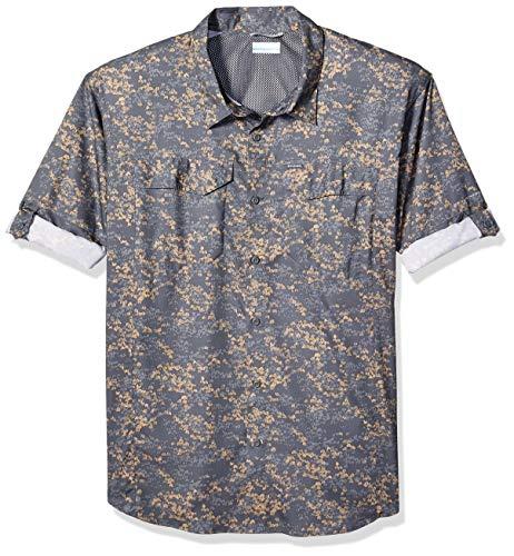 Columbia Men's Silver Ridge Lite Plaid Long Sleeve Shirt, Beach Tent Camo Print,Medium