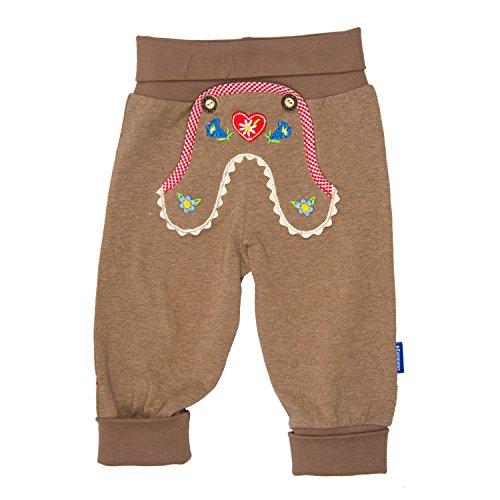 Eisenherz Pantalones de Deporte para bebés con Bordado de país Alpino, con Cintura elástica Estilo Pantalones de Cuero - Elegante Look Tradicional en la Talla 62.