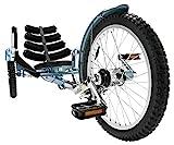 Mobo Shift 3-Wheel Recumbent Bicycle Trike. Reversible Adult Tricycle Bike, blue