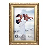 Malden International Designs Traditions Molding Wooden Picture Frame, 4x6, Gold