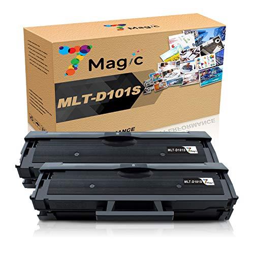 7Magic MLT-D101S Sostituzione cartuccia toner compatibile per Samsung SCX-3405W SCX-3405 SCX-3400 ML-2165W ML-2165 ML-2160 ML-2168 ML-2162 SF-760P Stampanti ad alta resa (2 pezzi nero)