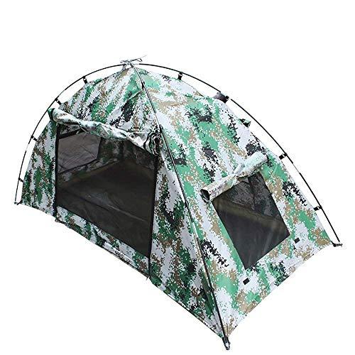 kyman Camping Tienda de campaña Camping Camping Capa de campaña al Aire Libre Tienda Ligera Impermeable A Prueba de Viento para Pesca Montañismo 210 * 100 * 100cm Tienda de campaña automática