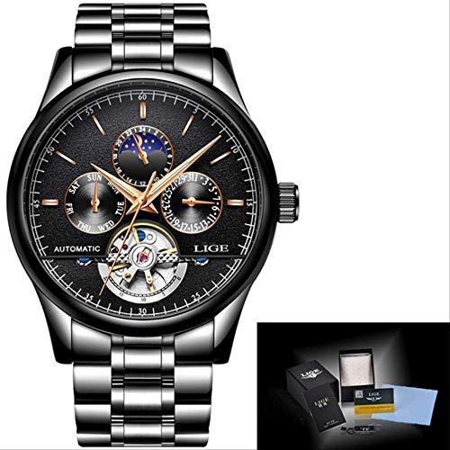 Smartwatch,Moda Business Mens Orologio Automatico Pelle Orologio Meccanico Impermeabile Orologio Da Uomo Tourbillon Sport Orologi Relogio Masculino