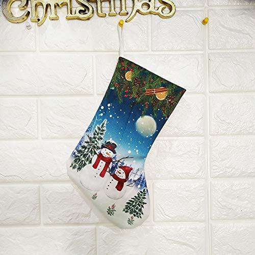 CYPYGDD Kerst Decoratie Items Tassen Kerstmis Sokken Gift Tassen Gedrukt Trompet