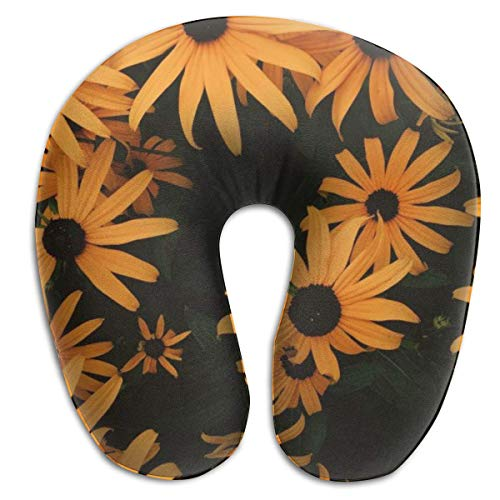 Almohada en Forma de U, Cuello Naranja, coneflowers, Viaje, Almohada Multifuncional, Coche, avión