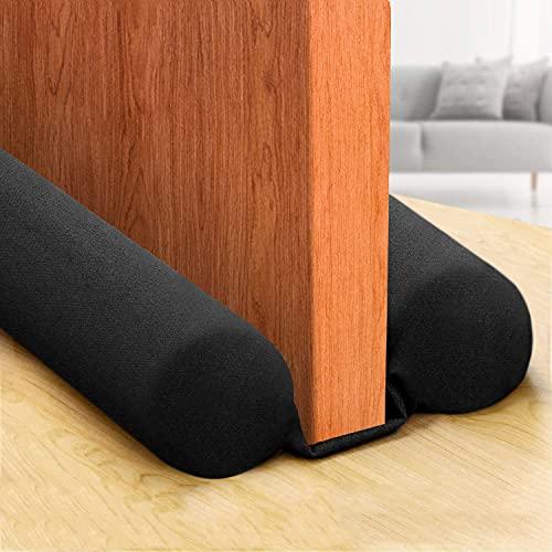 COXTNBIO 2021 [New Upgrade] Door Draft Stopper, Size 30' to 38' Under Door Noise Blocker Door Heat Blocker Door Air Draft Stopper, Energy Saving (New Upgrade Black)