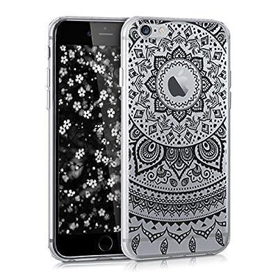 kwmobile Funda Compatible con Apple iPhone 6 / 6S - Carcasa de TPU Unicornio Brillante en Oro Rosa/Transparente