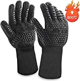 BBQ Grill Gloves, 1472℉ Extreme Heat Resistant Oven Mitts,MILcea Non-Slip & Premium Insulated