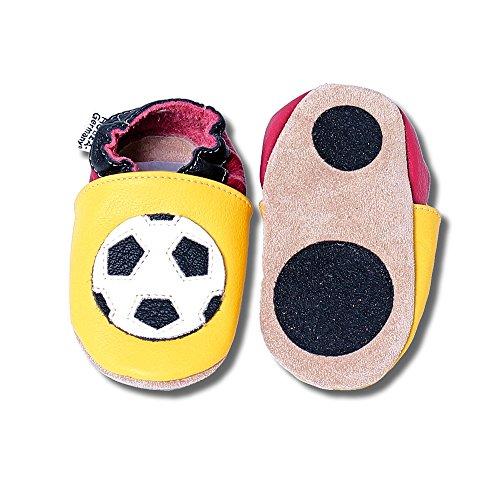 HOBEA-Germany Lauflernschuhe Fußball in Deutschlandfarben - Fussball Fanartikel, Schuhgröße:24/25 (24-30 Monate)