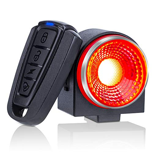 Onvian 2 in 1 Smart Bike Tail Light, Ultra Bright 115db Anti-Theft Motorcycle Bike Alarm with Remote, Waterproof Bicycle Security Cycling Alarm Vibration Sensor