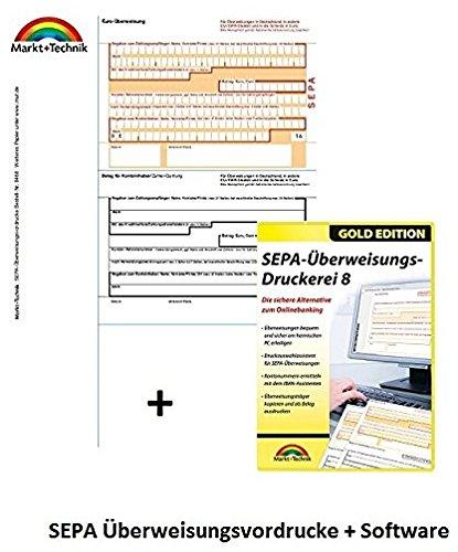 SEPA Überweisungsdruckerei 8 + Original-Papier, A4, 100x SEPA Überweisungsträger im SET