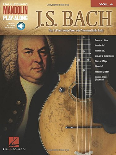 Mandolin Play-Along Volume 4: J.S. Bach: Noten, CD für Mandoline