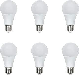 Asencia AN-03416 75 Watt Equivalent, Dimmable, A19 Standard LED Light Bulb, 6-Pack, Daylight (5000K)