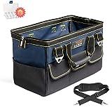 AIRAJ 18 Zoll Werkzeugtasche, Weithals und Reißverschluss, wasserdichte Werkzeugtasche mit großer Kapazität, klassisches schwarz-blaues Material aus 600D-Polyester mit hoher Haltbarkeit