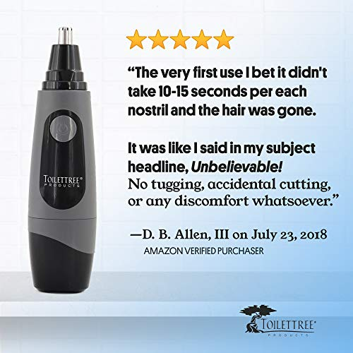 ToiletTree Products Water Resistant Nose and Ear Hair Trimmer with LED Light
