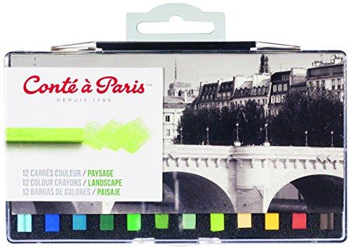 Conté à Paris - Set de 12 carrés de color para paisaje