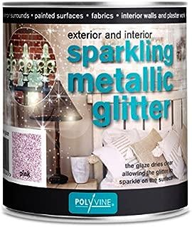 Polyvine Sparkling Metallic Glitter Glaze 500ml US Pint (Pink)