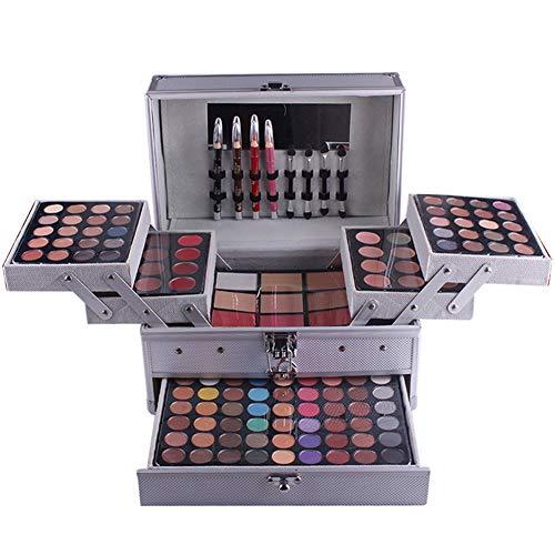 BHUJYG 140 Couleurs de Maquillage Professionnel Piano Aluminium Boîte de Fard à paupières Poudre Lip Gloss cosmétiques Fard à Joues Outil Multifonctionnel