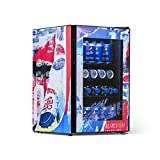 Pepsi PBC0850200 Cola Small Beverage Mini Fridge with Glass Door, Rewind Design, Perfect for Soda and Beer, 90 Can Capacity, Red