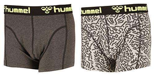 Hummel Herren Boxers His 2 Pack, Dark Grey Melange, M