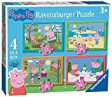 Ravensburger Puzzle, Peppa Pig, 4 Puzzle in a Box, Puzzles para Niños, Edad Recomendada 3+, Rompecabeza de Calidad