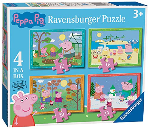 Ravensburger Peppa Pig 4 Stagioni, Puzzle 4 in a Box, Età Consigliata 3+, Multicolore, 03114 6
