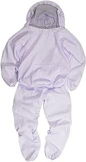 養蜂用 蜂防護服 上下セット フェイスガード付 ホワイト Lサイズ