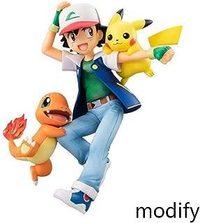 Duzhengzhou Pokémon:Ash Ketchum with Pikachu and Charmander - 5.9 Inches PVC Figure