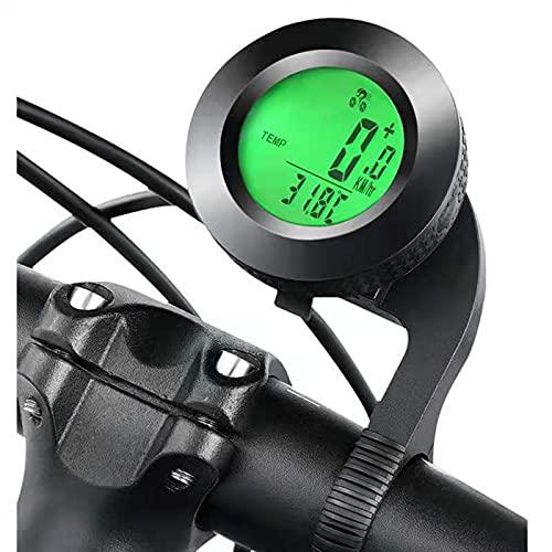 NAJING Ordenador De Bicicleta Inalámbrico Impermeable Bicicleta Odómetro Velocímetro Cronómetro Inicio/Parada Automático Ordenador