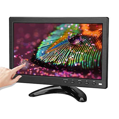 Monitor portátil de Pantalla táctil de 10.1 Pulgadas, Kenowa Monitor de Seguridad de Pantalla HD IPS de 1280 * 800 con de BNC/AV/HDMI/USB/VGA para cámara de Respaldo para automóvil Raspberry Pi