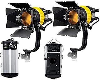FC500Ax2 Alto CRI Bi-Color de 50W LED Video Spotlight luz Continua de Fresnel como ARRI para la cámara de vídeo de la batería luz Continua V Montaje