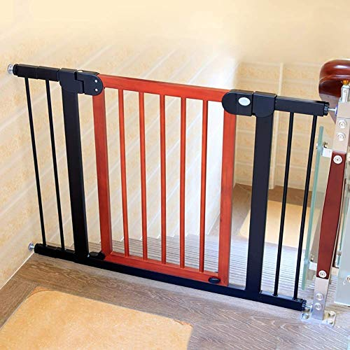 Sale!! Huo Safety Gate Solid Wood Expandable Pet Gate One-Hand Operation Auto Close Baby Gate (Size ...