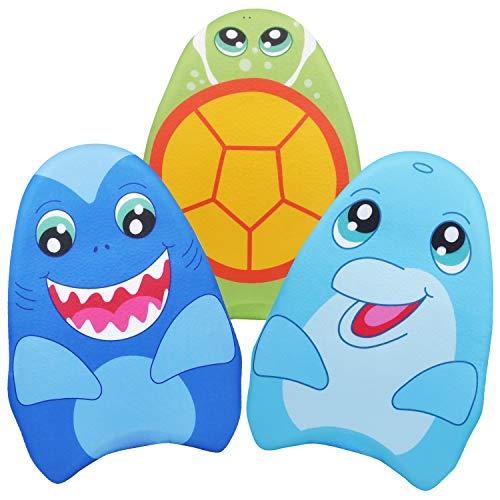 JOYIN Aprender-a-Natar Tiburón&Delfín&Tortuga 3 Paquetes para Niños, Tabla de Entrenamiento de Natación para la Piscina