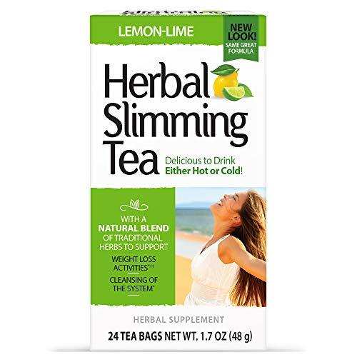 21st Century Health Care, Herbal Slimming Tea, Zitrone-Limette, 24 Teebeutel, 1,6 oz (45 g) 2.1 x 2.6 x 4.8 inches