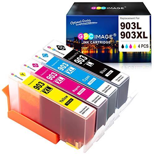 Neueste Update Chip- GPC Image 903L Kompatibel für HP 903 903 XL Druckerpatronen für HP Officejet Pro 6950 6960 6970 All-in-One-Tintenstrahldrucker(Schwarz/Cyan/Magenta/Gelb, 4er-Pack)