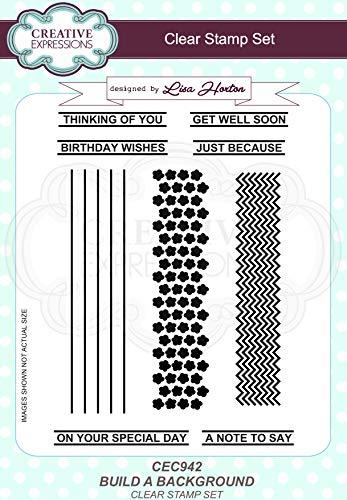 Creatieve uitdrukkingen Lisa Horton-Bouw een achtergrond-A5 duidelijke stempel Set